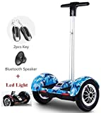 Hoverboard 10' Smart Self Balance Scooter con Bluetooth,Overboard con LED, 700W Motore, Skateboard...