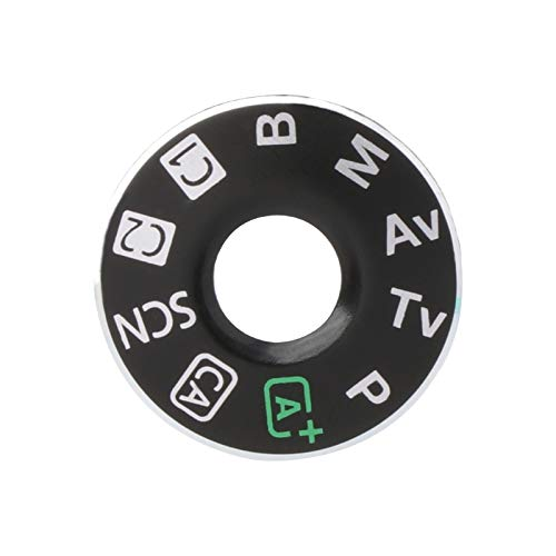 Camera Top Mode Dial Cover Lid Cap Function Mode Dial Signage Interface Cover Button Replacement for Canon EOS 6D