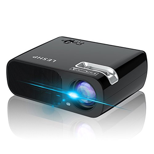 YKS Projector,2600 Lumens LED Home Theater Projector Portable Multimedia Video Projector Support 1080P Full HD VGA/HDMI/USB/AV Input for Movie TV Laptop Games Smartphone