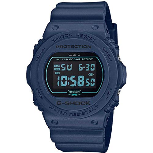 CASIO Herren Digital Quarz Uhr mit Resin Armband DW-5700BBM-2ER