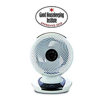 MeacoFan (1056) Personal Air Circulator cooling fan for bedroom, desktop, ultra-quiet, energy efficient- White