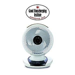 Meaco Fan 1056 DC – Ventilador de Mesa (80° horziontal y 60° Vertical automático) Giratorio, ultrasilencioso, Mando a Distancia por Infrarrojos, Panel táctil.