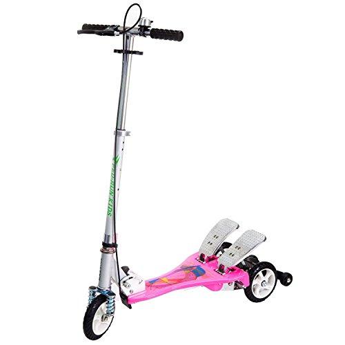 """Bike Rassine PRK-PK Kid's Ped-Run Dual Pedal Scooter, Pink, 29"""" x 11"""" x 40"""""""