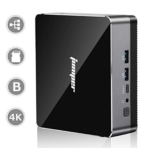 Mini PC jumper EZbox i3 Mini Ordenador de Sobremesa 8GB RAM + 128GB SSD Procesador Intel Core i3-5005U con Win10/ 4K/ 2.4G-5G Dual WiFi/HDMI&VGA/LAN inalámbrica Compatible/Bluetooth 4.0/ PC portátil