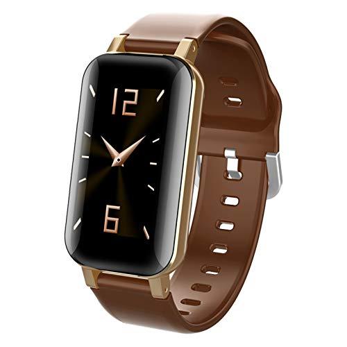 LHL 2021 T89 Reloj Inteligente A Prueba De Agua Bluetooth5.0 Auricular Recordatorio De Llamadas Ratón Cardíaco Monitor De Presión Arterial Deportes Smartwatch Hombres Y Mujeres iOS Android,B