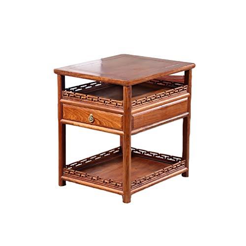 table basse Côté Redwood Salon chinois classique Table carrée (taille : 50cm*60cm*65cm)