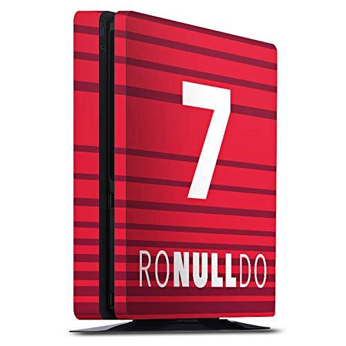 DeinDesign Skin kompatibel mit Sony Playstation 4 Slim PS4 Aufkleber Folie Sticker Football Fussball Christiano Ronaldo