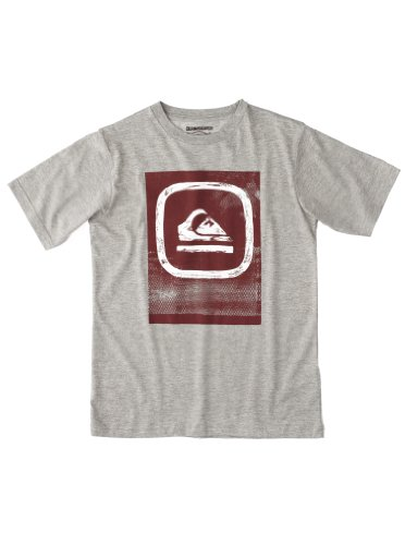 Quiksilver Ss Basic Tee Youth-KPBJE9412 T-shirt à manches courtes garçon Light Grey Heat 14 ans