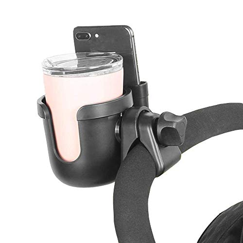 Parent Cup Holder for Stroller,Stroller Cup Holder, Bicycle Cup Holder, Universal Cup Holder Rack for Buggy Pushchair Wheelchair Bike and More