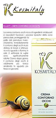 La meilleure crème contour des yeux avec Bave d'Escargot et acide hyaluronique – 30 ml bio naturel ipoallergenica