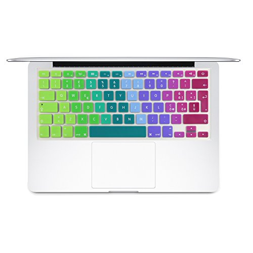 i-Buy Copritastiera in silicone, per MacBook Air e Pro da 13/15 pollici, layout spagnolo dei tasti Macbook 13&15(Italiano)