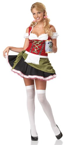 Ladies Large Bavarian Bar Maid Oktoberfest Fancy Dress Costume (disfraz)