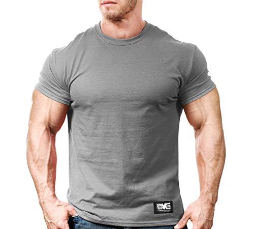 Monsta Gym Wear Classic Workout T-Shirt Grey