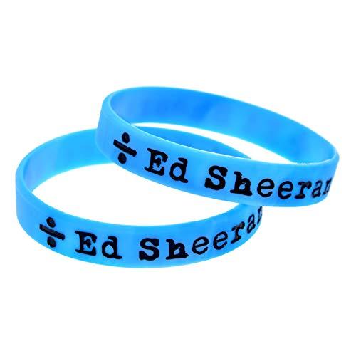 2 Unids Ed Sheeran Pulsera Ed Sheeran Pulsera Silicona Suave Silicona Británica Pulsera Pop Brazalets Accesorios Perfectamente Inspirar Fitness, Baloncesto, Búsqueda De Deportes, Ejercicio Y Tareas