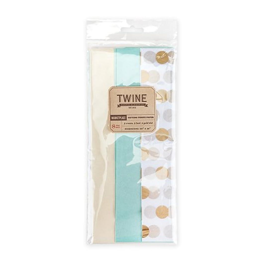 Cakewalk Marketplace: Gold Dot Teal & Cream Tissue Paper, Assorted