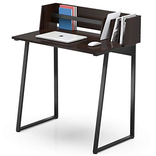FITUEYES Computertisch mit Aufbewahrung Holz Farbe Matchwood Schreibtisch Workstation für Home Office 82.4x51.2x93.5cm CD108201WG
