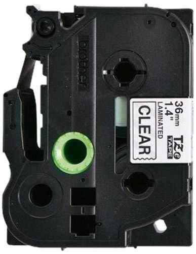 Brother Original P-touch Schriftband TZe-161 36 mm, schwarz auf transparent (für Brother P-touch P3600,- 9600, -9700PC, -9800PCN)