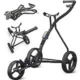 Golf Trolley TGU - 3 Wheels Push-Pull Golf Cart, Charcoal Black (OG03140)