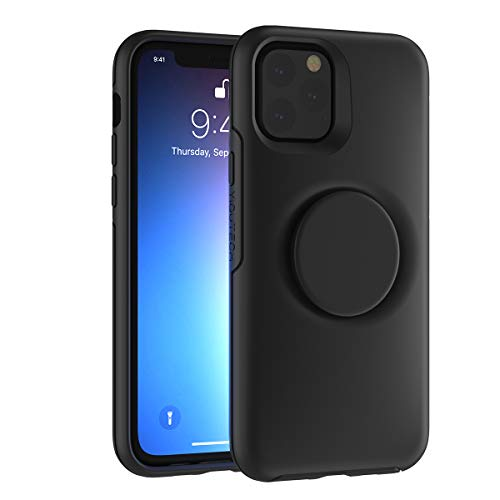 YIQUTECH 2 in 1 Case Compatible with iPhone 12 Pro Max,Hybrid Design Made of Rigid Back(PC) and Flexible Bumper(TPU) (Black)