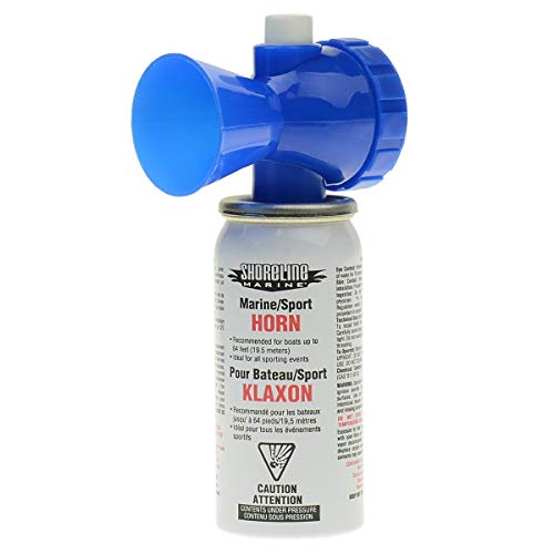 Photo of blue and white colored Shoreline Marine Eco Air Horn