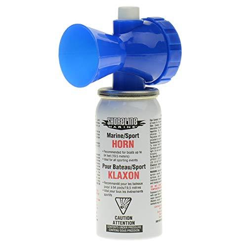 Shoreline Marine Air Horn Can and Blow Horn, 1.4 ounce