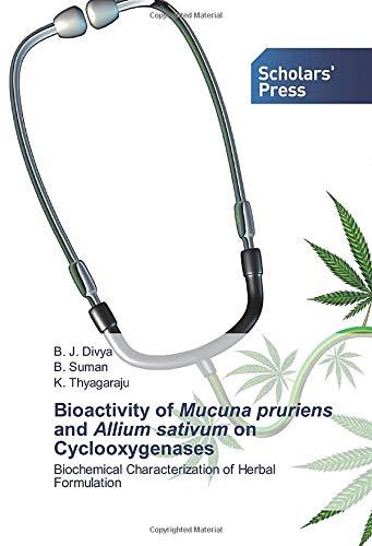 Bioactivity of Mucuna pruriens and Allium sativum on Cyclooxygenases: Biochemical Characterization of Herbal Formulation