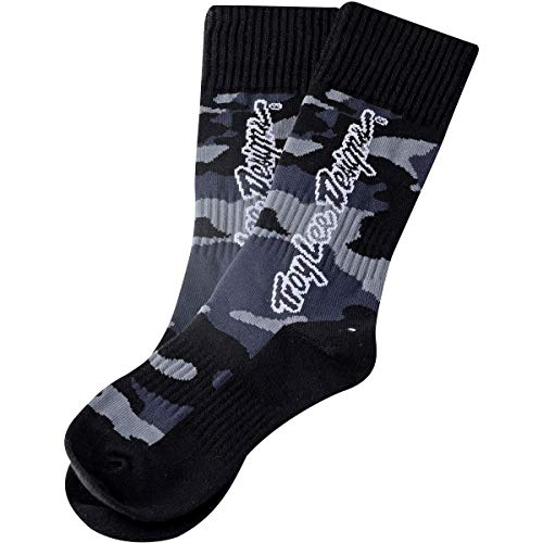 Troy Lee Designs GP MX Thick Youth Off-Road Motorcycle Socks - Camo Black/Medium/Large 4-6
