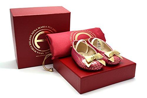 ANNA MARIA MILANO ANNA MARIA MILANO Fragolina - scarpine Neonato - Taglia 16 - Colore Rosa e Oro
