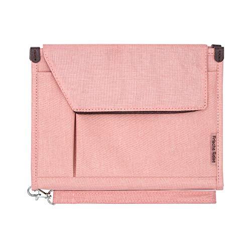 A5 Conference Folder Business Organiser Bag Notepad Carrying Case Document Case A5 Portfolio Organiser (Sweet Pink)