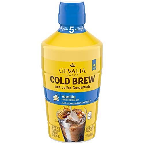 Gevalia Vanilla Cold Brew Iced Coffee Concentrate, Caffeinated, 32 fl oz Bottle