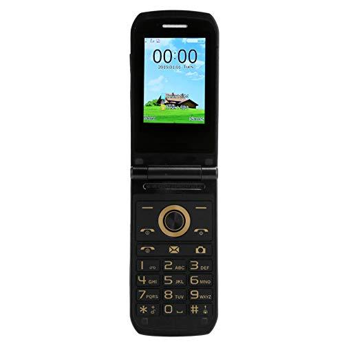 Dpofirs E7 100‑240V Mini Teléono Portátil Negro para Mayores, 32MB+32MB Doble Tarjetas Doble Modo de Espera Teléfono Móvil con 2,4 Pulgadas HD Pantalla a Color, Teléfono con Tapa para Ancianos(Negro)