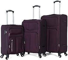 Giordano luggage - 161765 soft case trolley 3 pcs set with 4 wheel