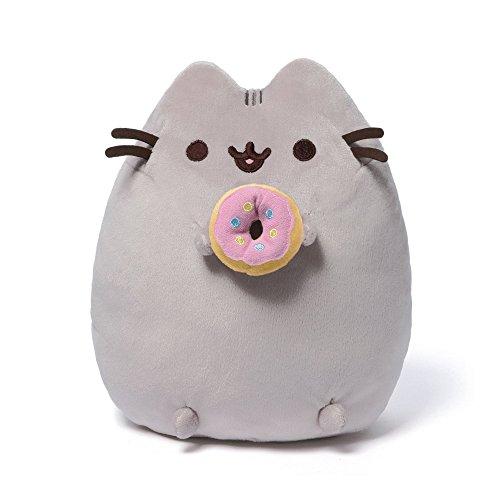 GUND Pusheen Snackables Donut Plush Stuffed Animal Cat, 9.5'
