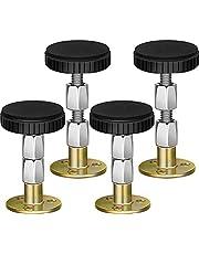 4 st huvudgavel stoppare med justerbar gängad anti-skakning stötdämpning teleskopstöd för säng, skåp, stol, soffa