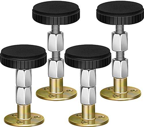 4 Stück Verstellbarer Bettrahmen, Kopfteil-Stopper mit Verstellbarem Gewinde, Anti-Shake-Gewinde Bettgestell, Kopfteil Stopper Teleskop-Stütze für Zimmerwand Bett Schrank Stuhl Sofa