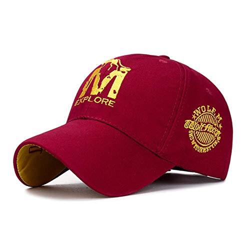 UKKD Gorras de béisbol para hombre, unisex, bordadas con correa trasera, parche cuadrado para papá, sombrero para hombre