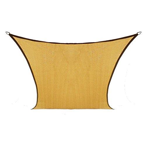 Coolaroo Coolhaven Shade Sail, 95% UV Block Shade and Sun Shield, Medium 12' Square Shade Sail Including Hardware Kit, Sahara Tan
