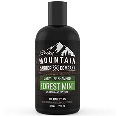 Men's Shampoo - Tea Tree Oil, Peppermint & Eucalyptus for All Hair Types - Prevents Dry Itchy Scalp - Paraben, SLS & DEA Free - 8oz - by Rocky Mountain Barber Company