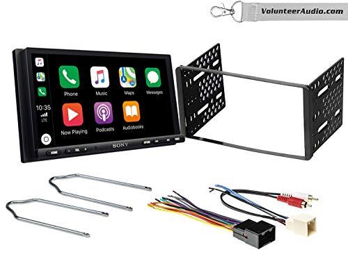 Sony XAV-AX7000 Double Din Radio Install Kit With Apple Carplay, Android Auto, SiriusXM Fits 1999-2004 F-150, 2003-2008 E-150, 1998-2012 Ranger