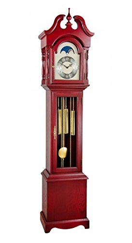 Hermle 010890RD0451 Alexandria Grandmother Clock - Antique Red