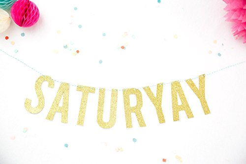 Party Banner SaturYay Gold Glitter Party Garland