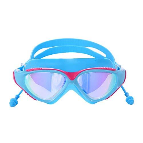 Waterdichte zwembril Onderwatersporten Anti-condens Heren Dames Duikbril Anti-UV Professionele verstelbare zwembril, blauw roze