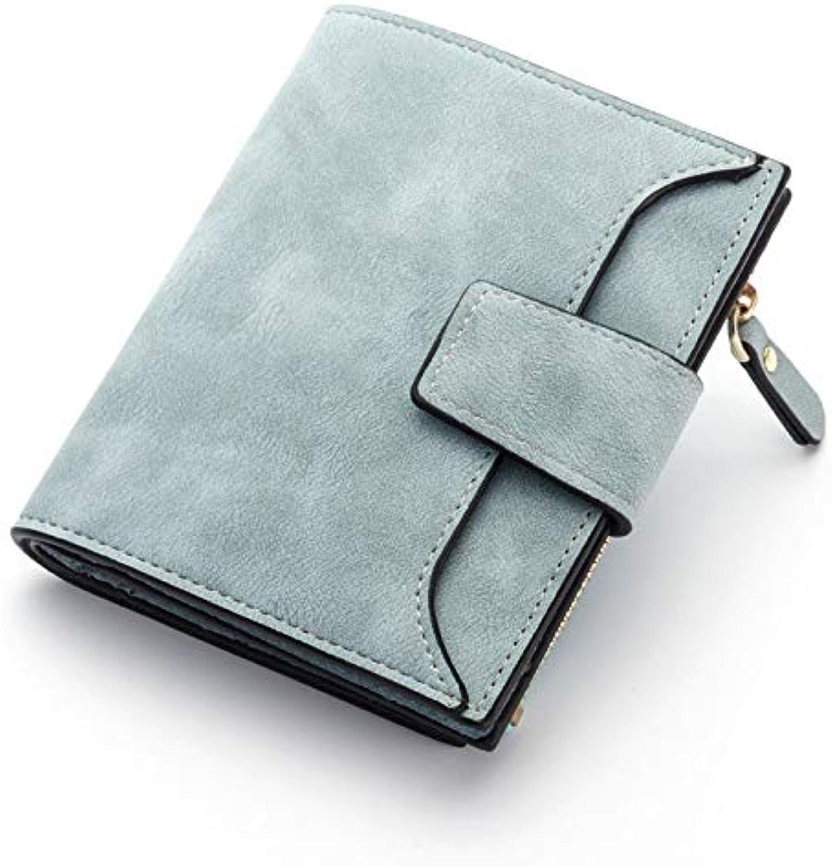 LZTY Wallet Fashion Lady Wallet Zipper Short Clutch Solid Vintage Matte Women Wallet Fashion Small Female Purse Short Purse