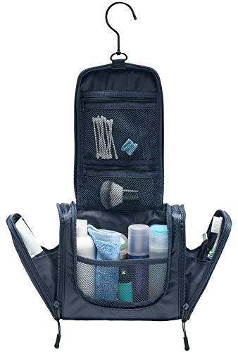 TRABONA Kulturbeutel zum Aufhängen für Herren - Waschtasche für Männer Premium-Qualität - Reise Kulturtasche mit verbessertem Konzept [2020]