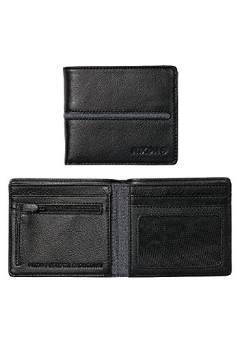 Nixon Coastal Showdown - Cartera con cremallera doble, color negro y negro