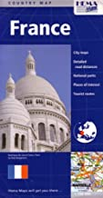 France Country Map by Hema (English, French and German Edition): Deluxe Cover