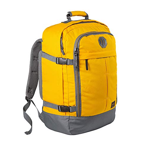 Cabin Max handbagage rugzak 44 liter - lichtgewicht reisrugzak voor het vliegtuig bagage 55x40x20 cm - Robuuste & praktische backpack - Hoogwaardige cabine koffer (Vintage Geel)