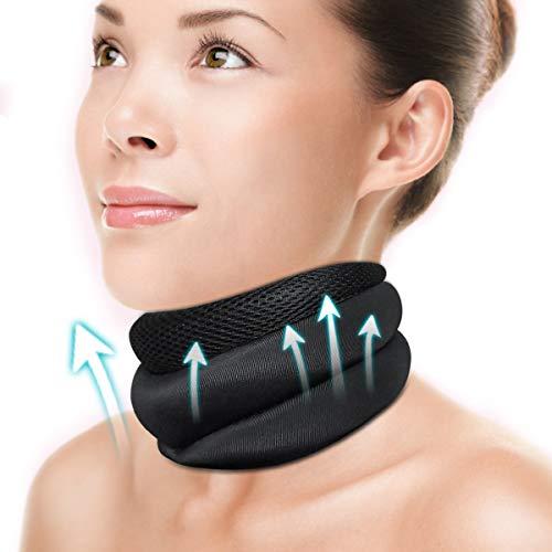Nackenstütze zu Linderung von Nackenschmerzen und Druck, Halskrause aus weichem Schaumstoff, Cervicalstütze der die Wirbel stabilisiert - geeignet für Reisen, Schlafen Arbeiten, Männer und Frauen(M)