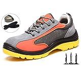 Zapatos de Seguridad para Hombre Puntera de Acero Zapatillas Deportivas Ligeras Transpirables Antideslizante Anti-Piercing Zapatillas de Senderismo Casual para Deportivas de Zapatillas,36