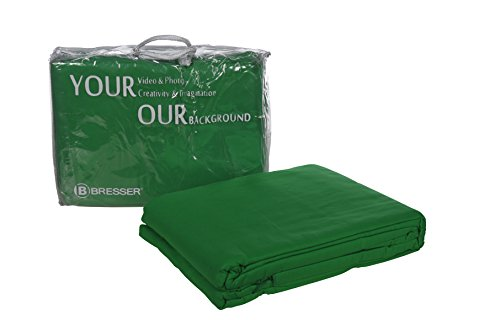 Bresser Y-9 Tela de fondo color verde croma 6x6m